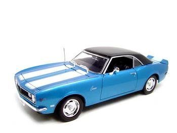 1968 chevrolet camaro z28 coupe blue 1 18 maisto diecast car model by