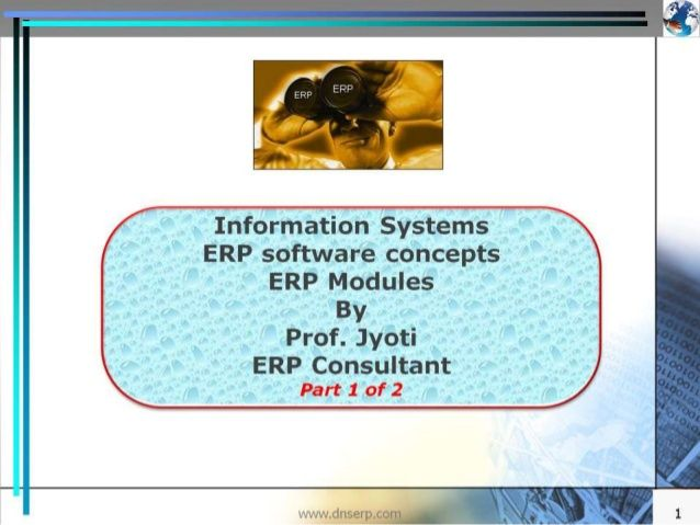 Video AND Presentation on SlideShare - ERP introduction of 32 Modules - 1/2 - with video - This Presentation is a good reference for various key functions managers, such as accounts, purchase, sales, production, etc - It is not just a Presentation but also a companion for corporate commandos by Jyotindra Zaveri via slideshare.  #erp #business #management #manufacturing