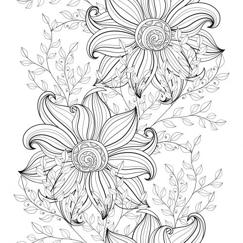 flowers advanced coloring pages 16