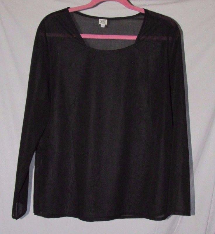 Simple Sophisticate Gossl Austria New Black Semi Sheer high denier Cotton Top 16  | eBay