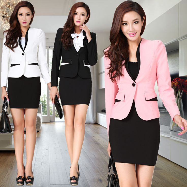 I <3 these blazers, but the skirt has to be longer, and closed heels.