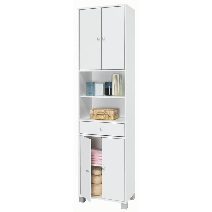 1000+ Ideas About Tall Bathroom Cabinets On Pinterest