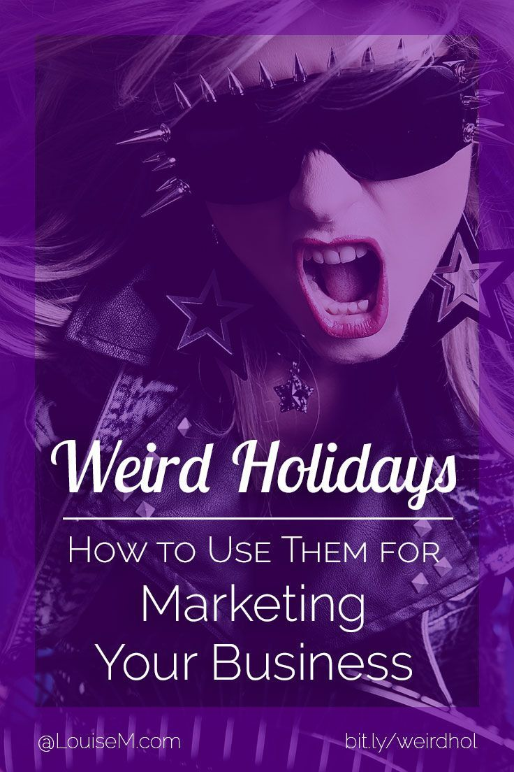 Marketing ideas for small business: Use weird holidays for social media engagement and even sales ideas. Click to blog for creative tips!