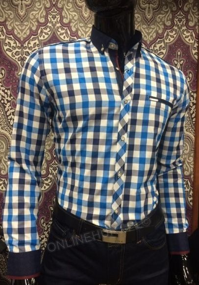 Koszula Męska Sedna SED8819  _A11 (M-3XL) TURKUS