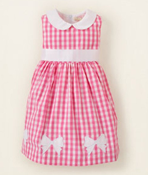Flouncy and Fun Easter Dresses: Checked Bow Dress from The Children's Place.