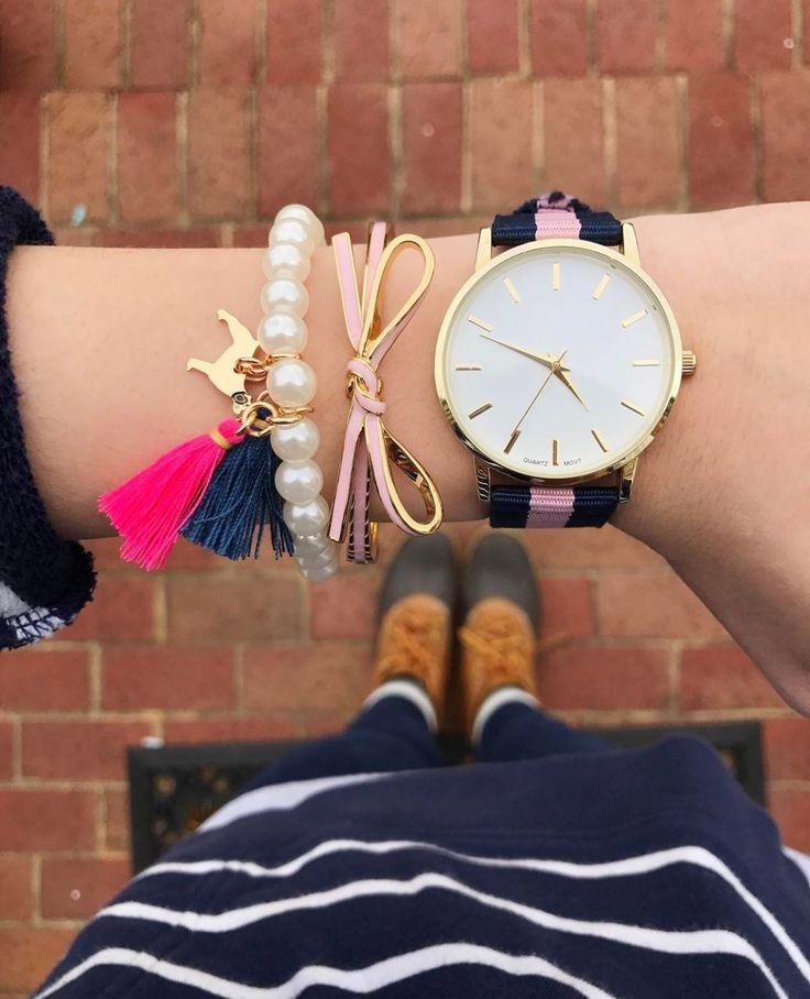 Add a Southern Girl Prep Pearl tassel bracelet to your preppy style like @socutesoprep!  Shop southerngirlprep.com #teamsgp