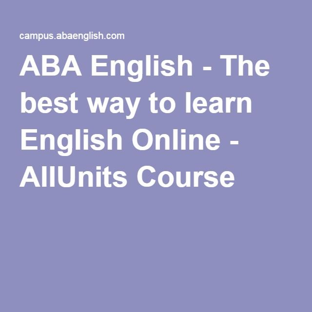 ABA English - The best way to learn English Online - AllUnits Course
