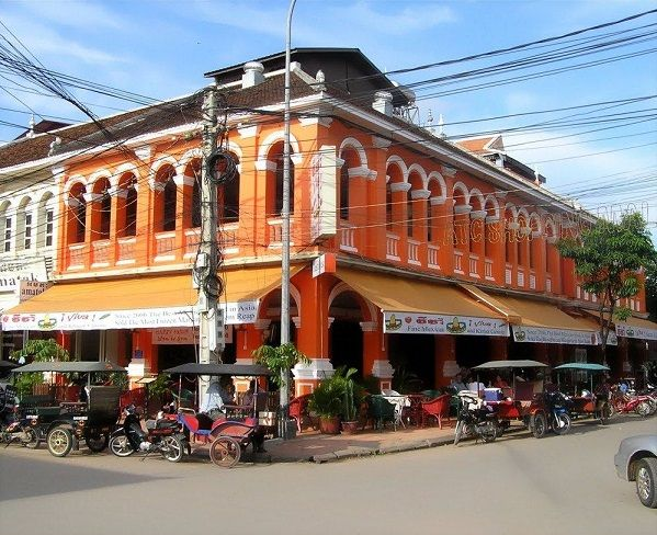 French Colonial Restaurant in Siem Reap Cambodia