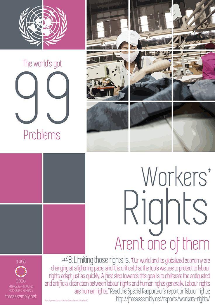 """Un impactante nuevo informe de la ONU sobre la libertad de sindicación critica la """"diferenciación artificial"""" entre los derechos laborales y humanos."""