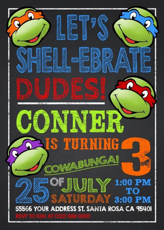 best 25+ ninja turtle invitations ideas on pinterest,