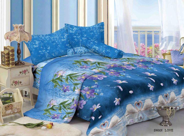 """SWAN LOVE - """"Swan Love merupakan design menawan yang bermotifkan sepasang angsa putih dengan paduan bunga yang menawan dan ekslusif untuk kamar anda"""""""