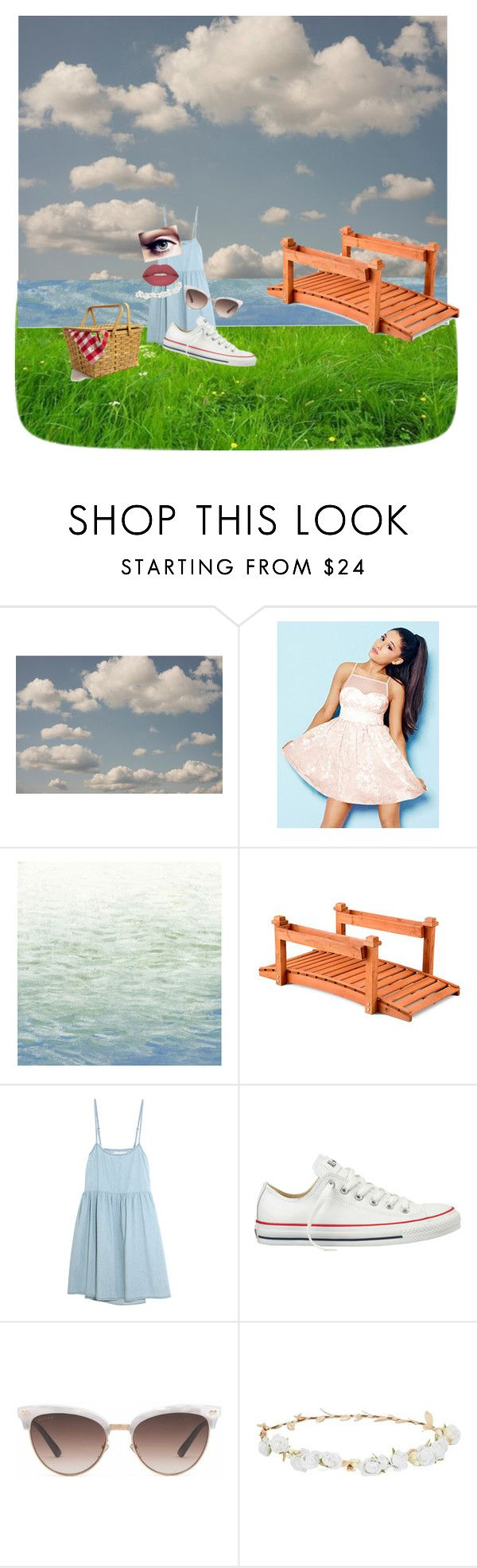 """picknick"" by swagieunicorntjuh on Polyvore featuring mode, Lipsy, Art Classics, Improvements, The Great, Converse, Gucci, Robert Rose en Smashbox"