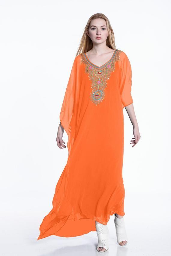 maxi Gown nightwear Mustard Beautiful floral print women/'s kaftan cotton light weight summer wear beach wear dress