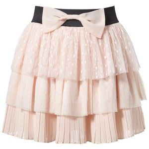 Lipsy Tiered Bow Skirt