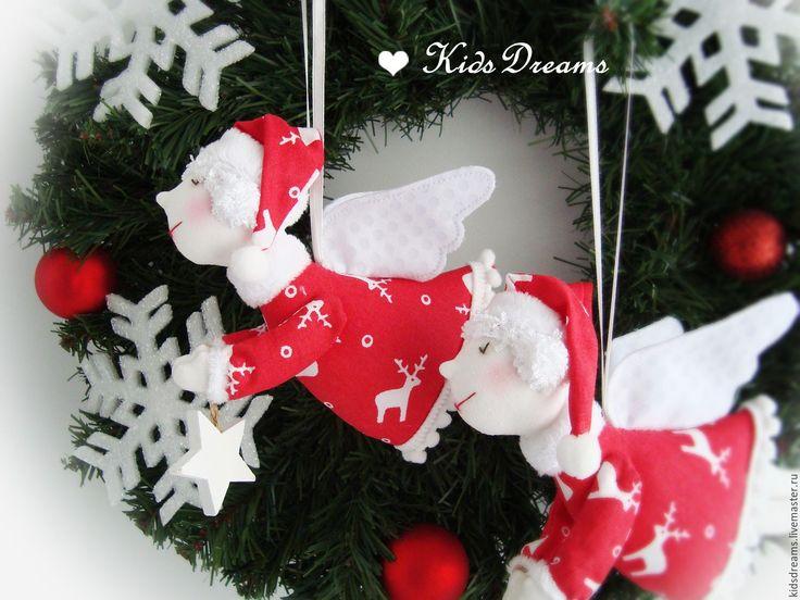 Купить Рождественские Ангелочки - ангел, ангелочек, ангел-хранитель, ангелы, новогодний подарок, рождественский ангел