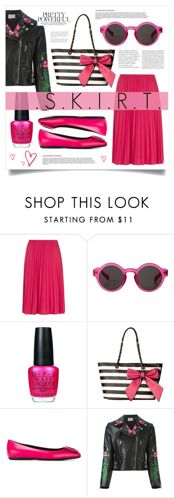 """""""Untitled #1354"""" by virgamaleva ❤ liked on Polyvore featuring Dorothy Perkins, Monki, OPI, Gabriella Rocha, Roger Vivier and Christopher Kane"""
