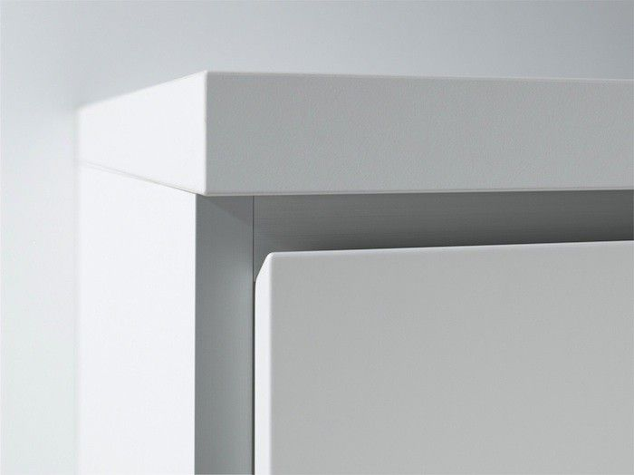 A Detail Of The German Made Bulthaup B1 Linear Kitchen Drawers With An  Angled Recessed