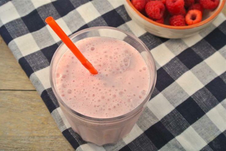 Milkshake met framboos - Lekker en Simpel