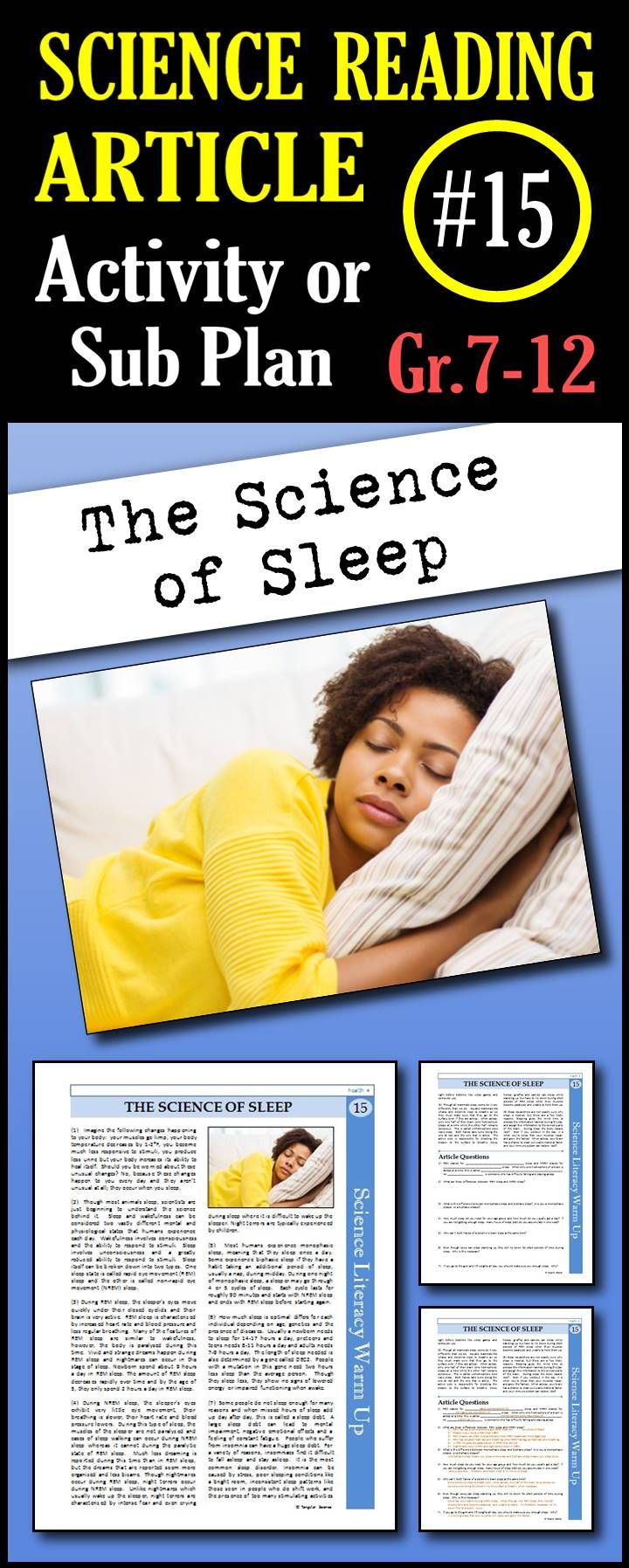 science articles or blog posts at sleep