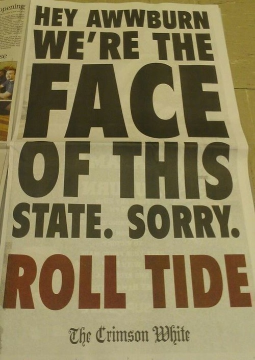 Roll Tide Roll! (courtesy of @Loraineufm372 )