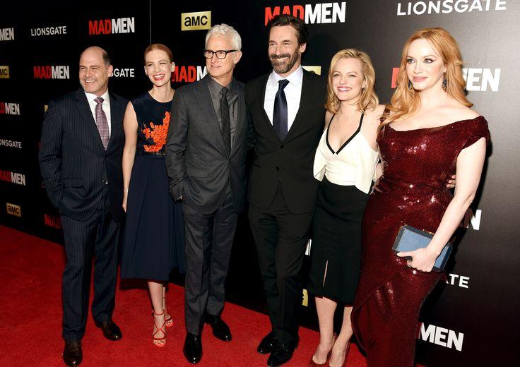 Matthew Weiner, January Jones, John Slattery, Jon Hamm, Elisabeth Moss, and Christina Hendricks all look amazing, don't they?   - MarieClaire.com