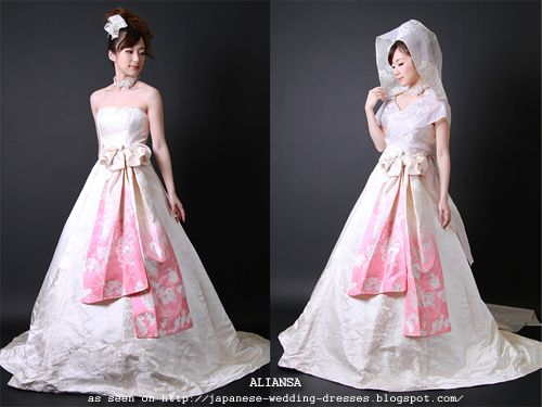 Japanese Wedding Dresses Beyond the Kimono: Aliansa's Modern Kimono Fabric Wedding Dresses