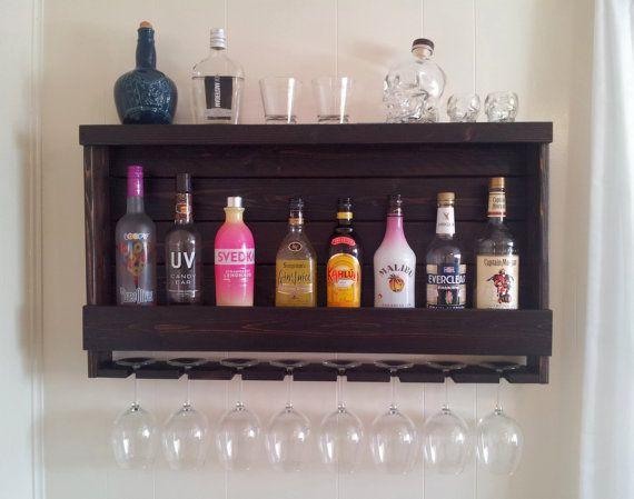 Rustic Wine Rack / Liquor Cabinet with Optional Red by CedarOaks