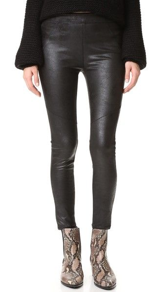 Free People Faux Leather Never Let Go Leggings | SHOPBOP