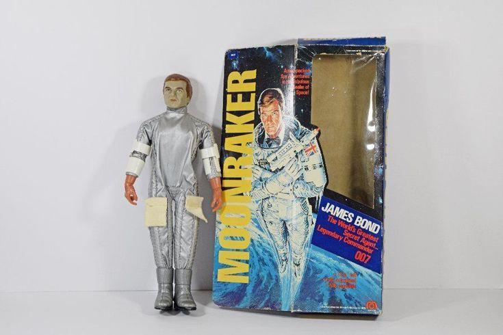 """Vintage Mego James Bond Moonraker 12.5"""" Figure with Box #Mego"""