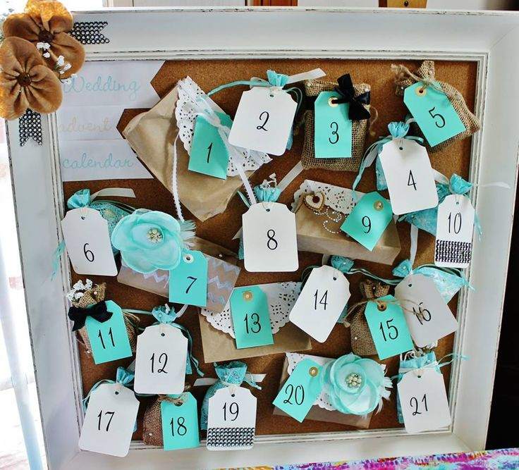 Bridal Shower Gift Calender Countdown To The Big Day Hand Made By Me For Engagement BasketBest