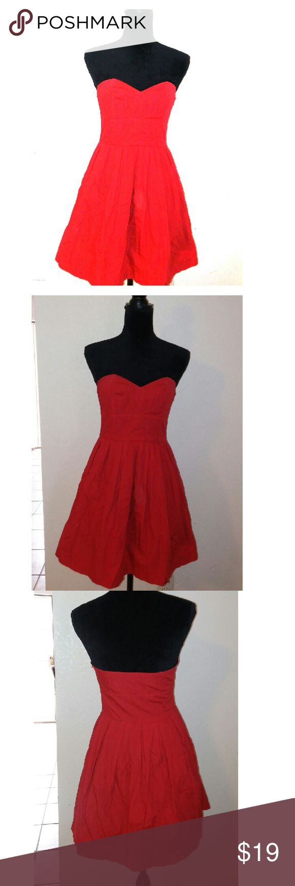 Sale* Charlotte Russe Cherry Red Strapless Dress This is sexy and classy all in one....but with a touch of innocent ;-)  Charlotte Russe Cherry Red Strapless Dress Size Medium  100% Cotton  Cherry Print lining Charlotte Russe Dresses Strapless