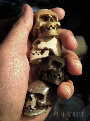 Custom Skulls by 13: http://skullappreciationsociety.com/skulls-by-13/ via @Skull_Society