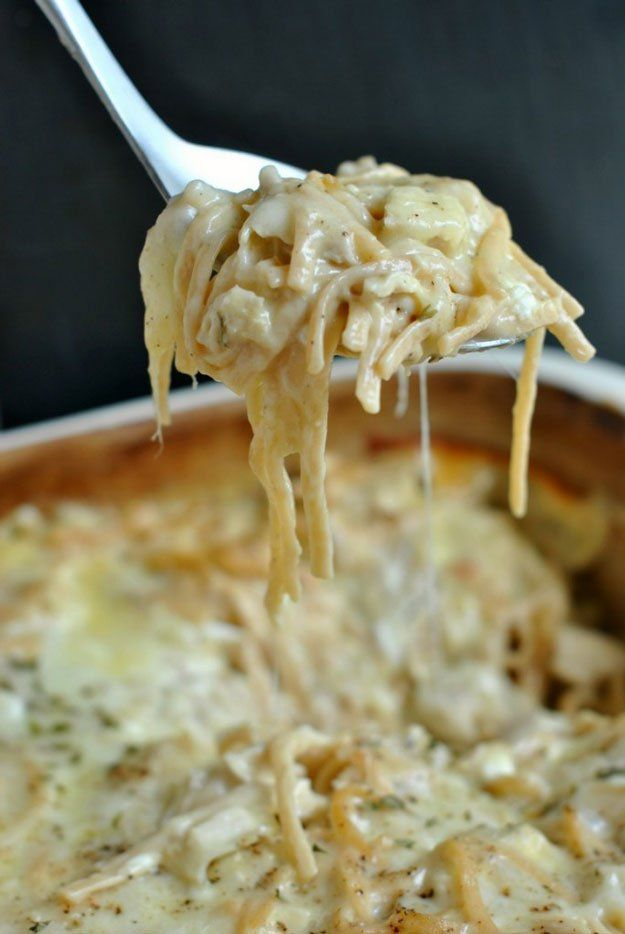 Chicken Tetrazzini Casserole | 15 Savory Chicken Casserole Recipes to Feed the Whole Family | Easy To Make And Satisfyingly Delicious Homemade Recipes by Pioneer Settler at http://pioneersettler.com/chicken-casserole-recipes/