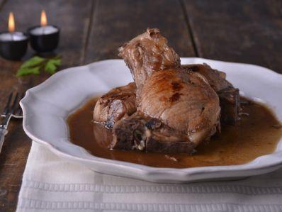 Receta | Stuffed pork chops (Chuletas de cerdo rellenas) - canalcocina.es