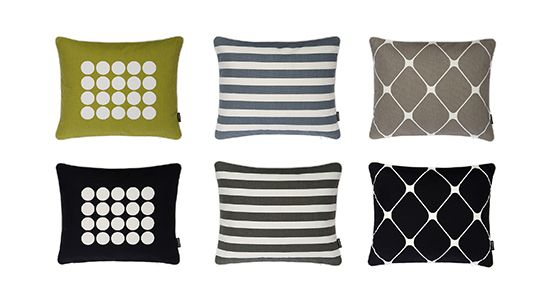 New colors AW2016! Cotton cushions FIA, LISA and REX. www.pappelina.com