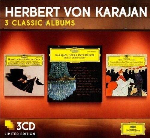 Herbert von Karajan: Three Classic Albums: Ouvertüren / Opera Intermezzi / Gaité Parisienne + Balettmusik Und Walzer Aus Margarete (Faust)