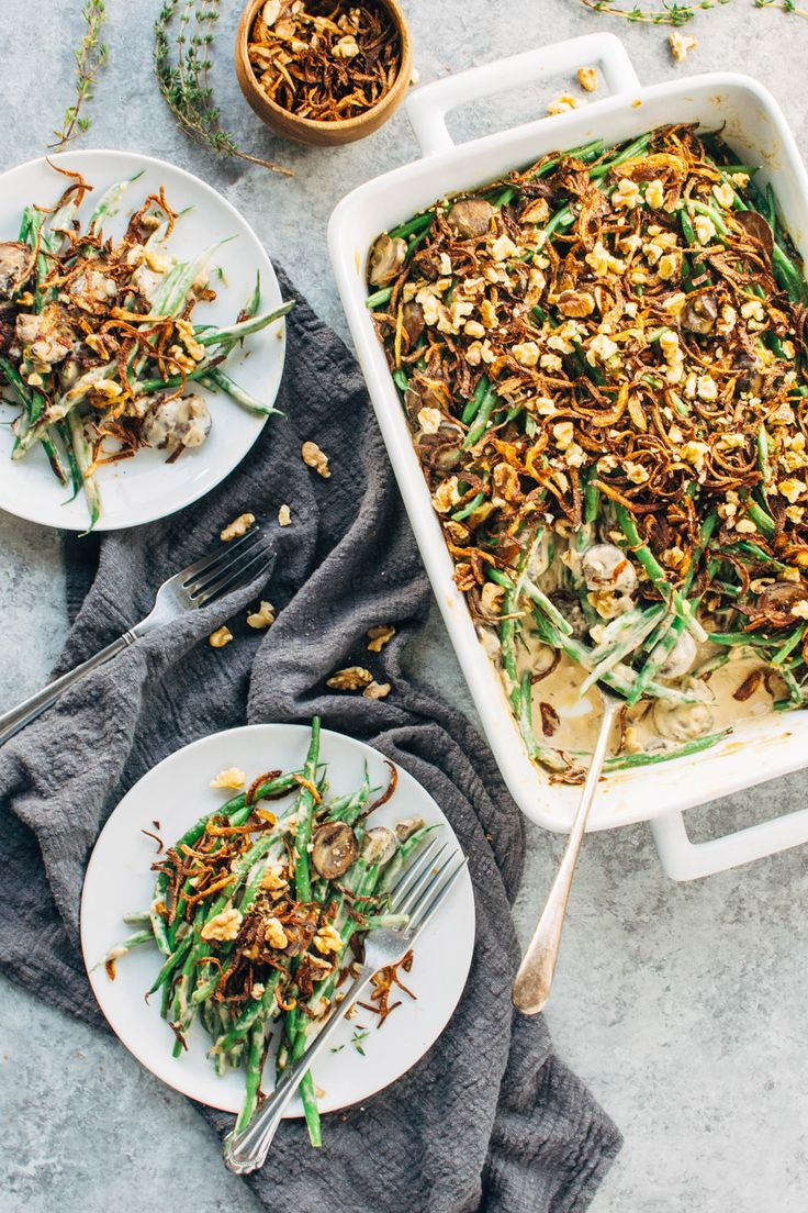 Grain Free Paleo Green Bean Casserole {paleo + vegan} - nyssa's kitchen