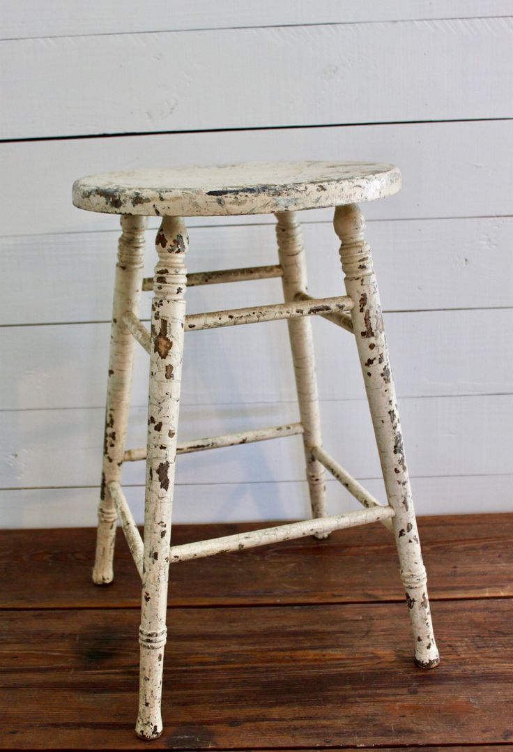 Country crafted wooden chair and stool ebth - Vintage Farmhouse Stool Vintage Kitchen Stool Vintage Wood Stool Farmhouse Stool Wood