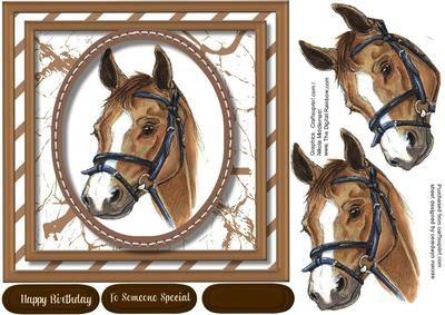 Beautiful Horses Head on Craftsuprint - Add To Basket!
