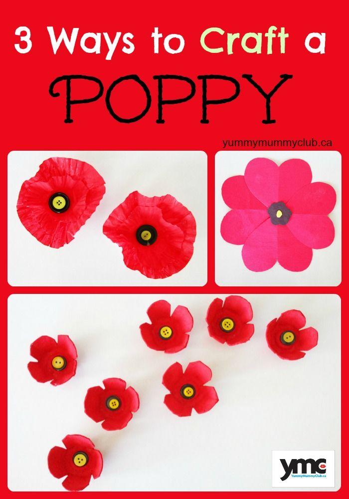3 Ways to Craft a Poppy