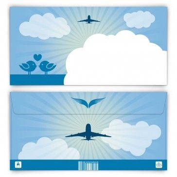 Briefumschläge - First Class Flugticket in Blau - DIN Lang 220 x 110 mm  #Briefumschlag #Briefumschläge #Umschlag #Umschläge #Kuvert #Kuverts #Flugzeug #Flugticket #Hochzeit #romantisch