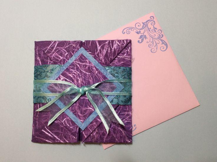 Origami wedding card