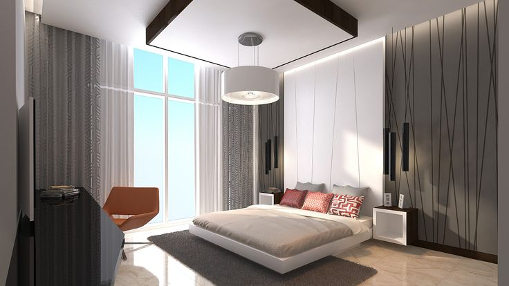 bedroom master bedroom geometric interior design 3ds max 3d render