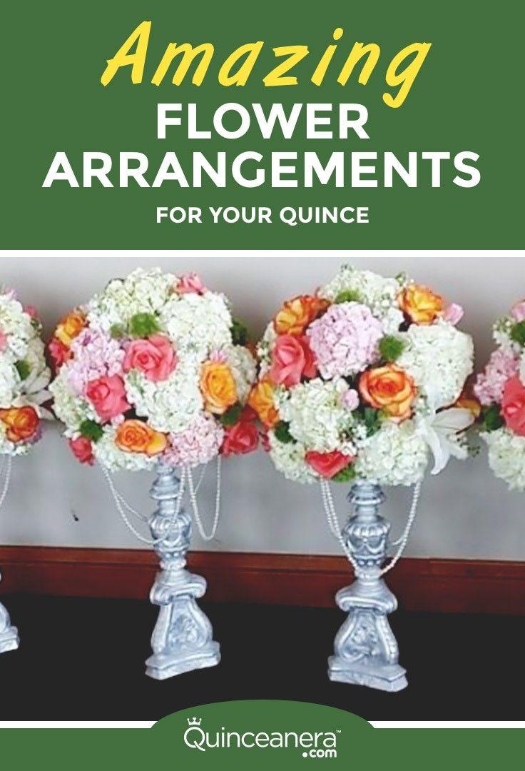 Luxury florist amazing flower arrangements for your for Flower arrangements for sweet 16