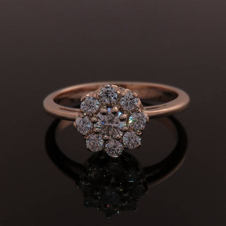 Engagement ring, Vintage style engagement ring,#Cluster ring #diamondring/// I am in love with Cluster rings, so pretty