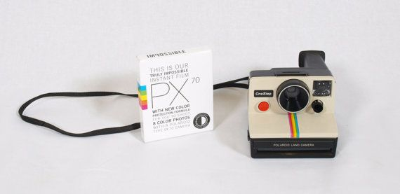 Polaroid SX 70 One Step Rainbow Land Camera with Impossible Project PX 70 Film, Tested / Working
