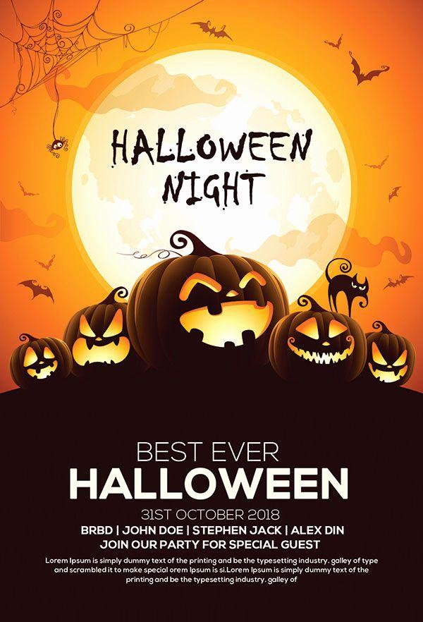 Free Halloween Party Invitation Templates Luxury 60 Free Halloween Posters Invitation Flyers Free Halloween Invitations Halloween Flyer Halloween Party Flyer