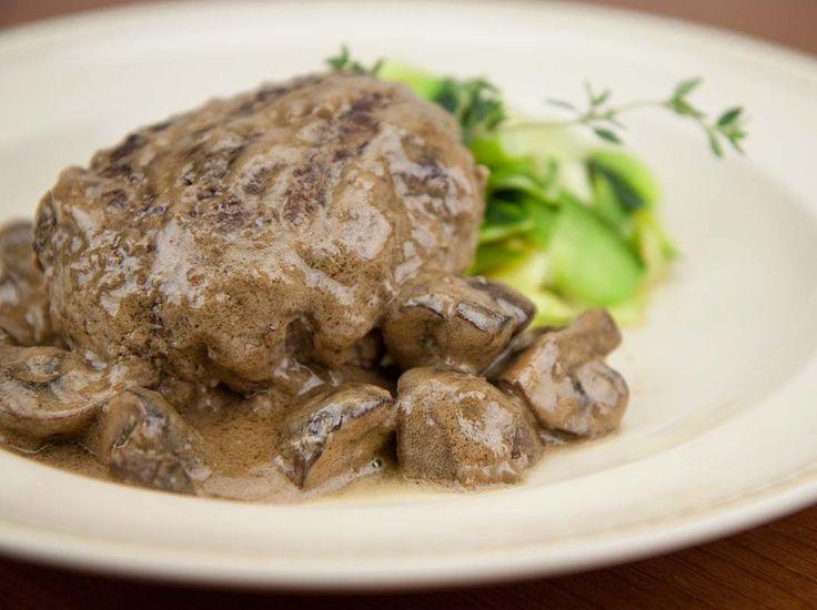 Salisbury Steak Stroganoff / @DJ Foodie / DJFoodie.com