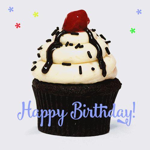 happy birthday cupcake animated gif                                                                                                                                                                                 More