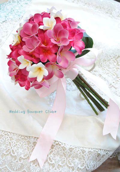 花嫁必見!プルメリアのクラッチブーケ【Wedding Bouquet Club】